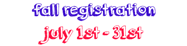 Registration for Fall Sale July 1-31